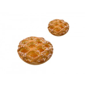 Abrikozenvlaaitjes met raster 9 cm